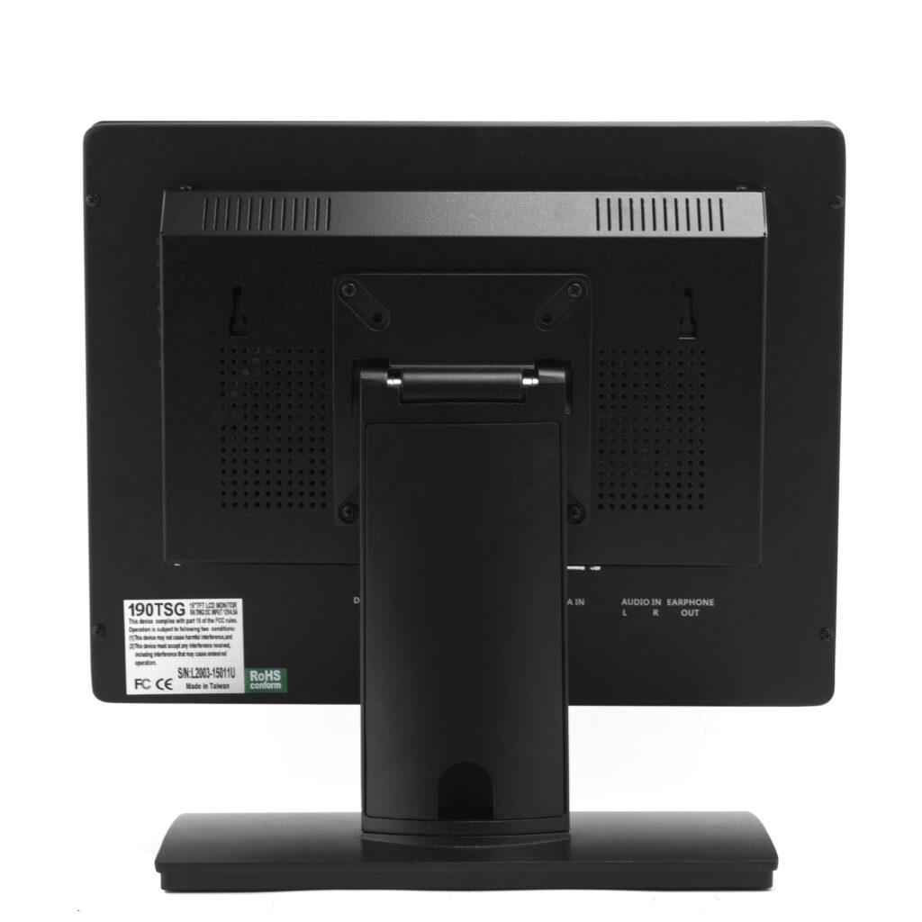 19 Inch Multi-Touch PCAP Monitor Rear Housing
